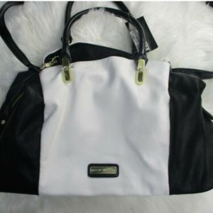 Steve Madden Satchel Triple Compartment Black NWT